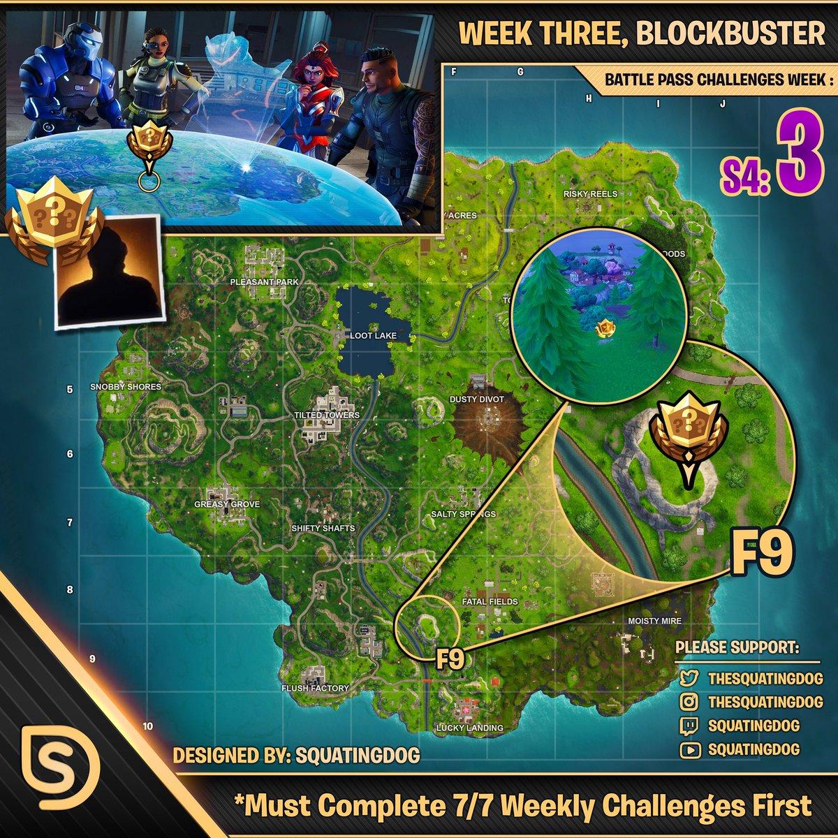 Season 4 Week 3 Blockbuster Challenge Map Wheel Of Fortnite